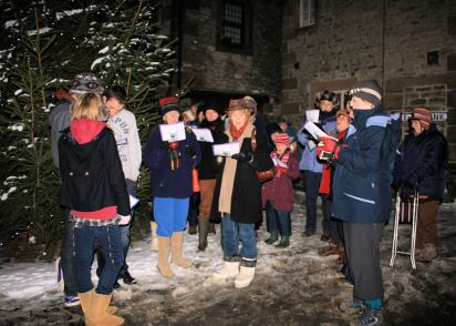 Carol Singing in Winster